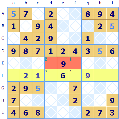 Subgroup exclusion Sudoku rule