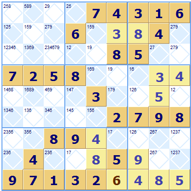 Hard Sudoku - hidden twins