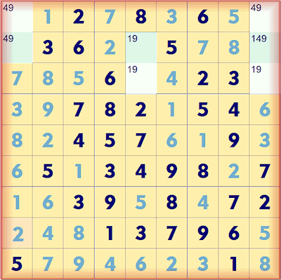 Samurai Sudoku Lower Left complete