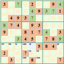 Sample Sudoku Theme Red Green