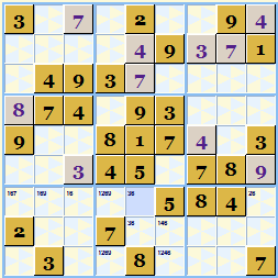 Sample Sudoku Theme Gold and Silver